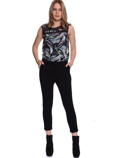 Limon Company Standart Fit Cepli Kadın Pantolon Siyah